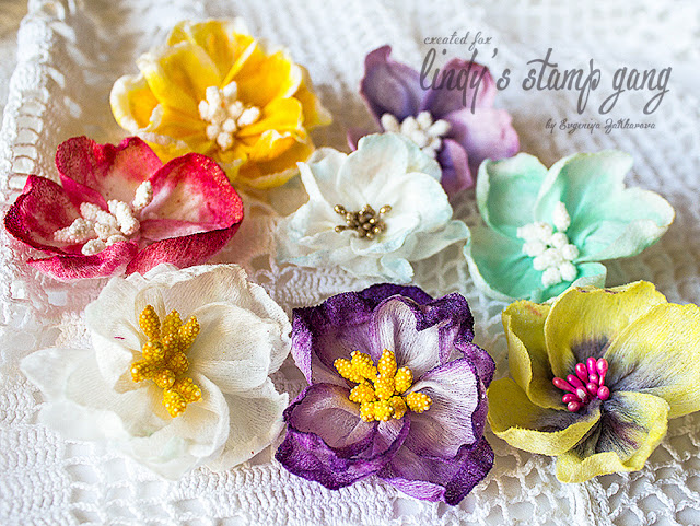 Wet Wipes Flowers Tutorial by Evgeniya Zakharova
